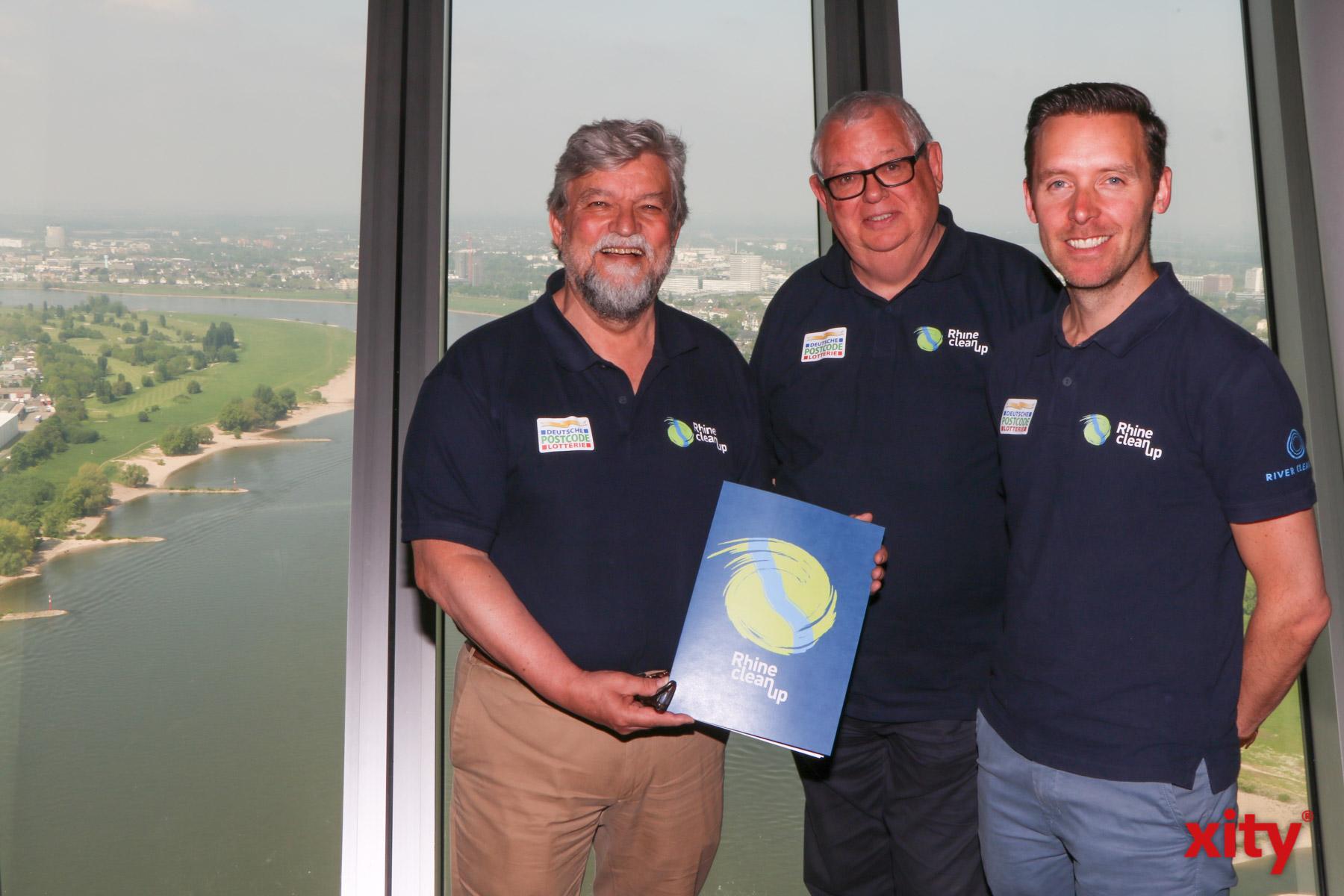 Das Team RhineCleanUp: Joachim Umbach, Ingo Lentz und Thomas de Groote (Foto: xity)