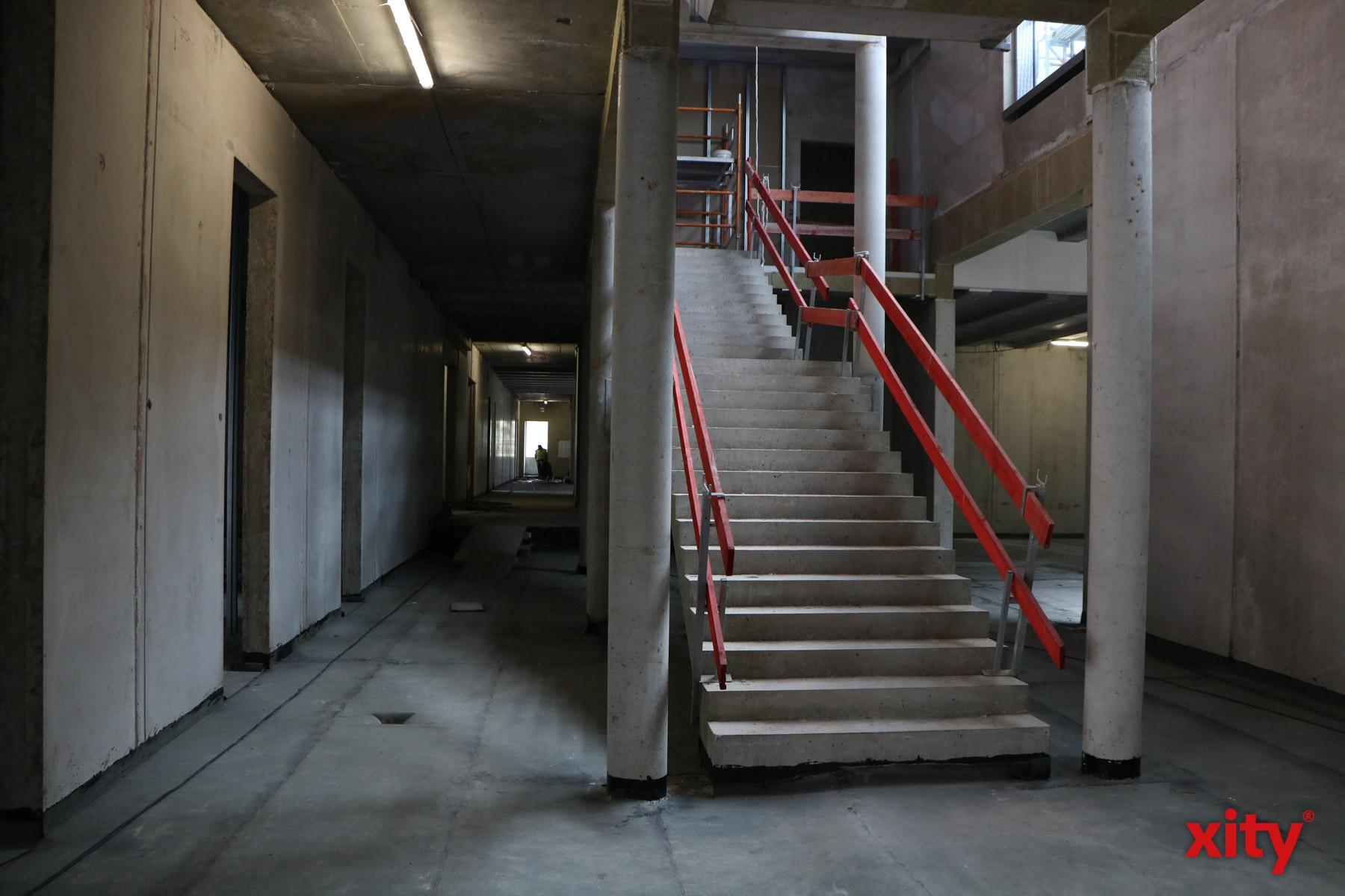 Der Rohbau der neuen Toni-Turek-Realschule ist abgeschlossen (Foto: xity)