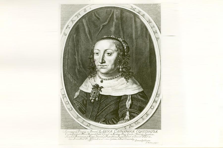 Anna Catharina Constantia (1619-1651), Prinzessin von Polen, Theodor Matham, nach Johann Spilberg - der Jüngere -, um 1650, Kupferstich (Foto: Medienzentrum Rheinland/Stefan Arendt D 695a)