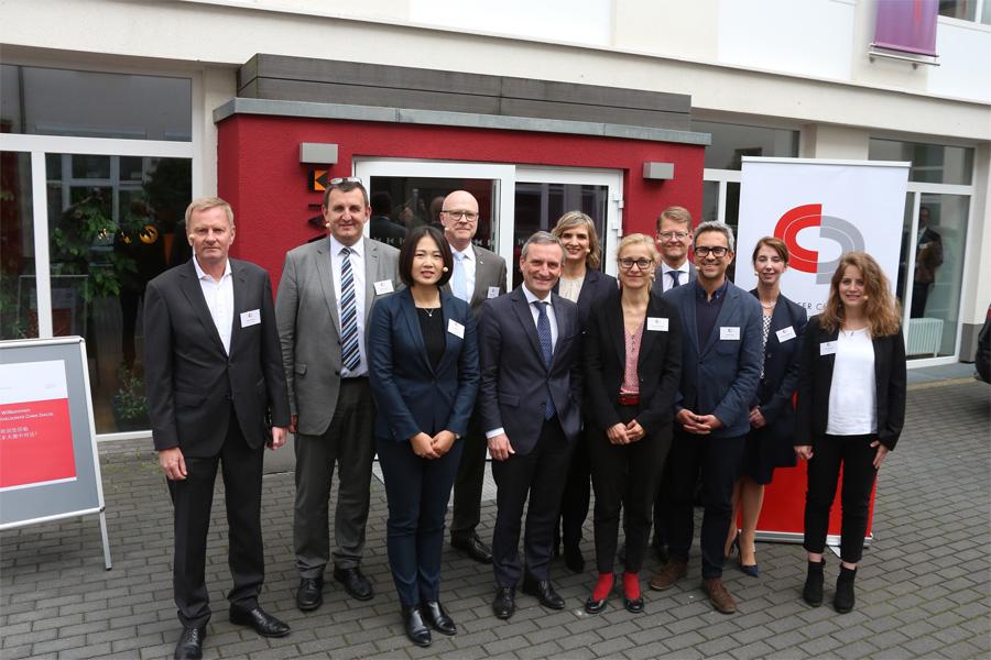 """Das Thema der Wirtschaftskonferenz lautete """"Nachhaltigkeit in Deutschland und in China"""" (Foto: Stadt Düsseldorf/Ingo Lammert)"""