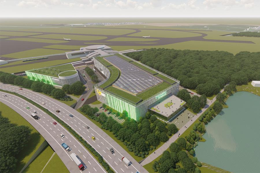 Visualisierung EUREF-Campus Düsseldorf (Außenansicht) (Foto: EUREF AG)
