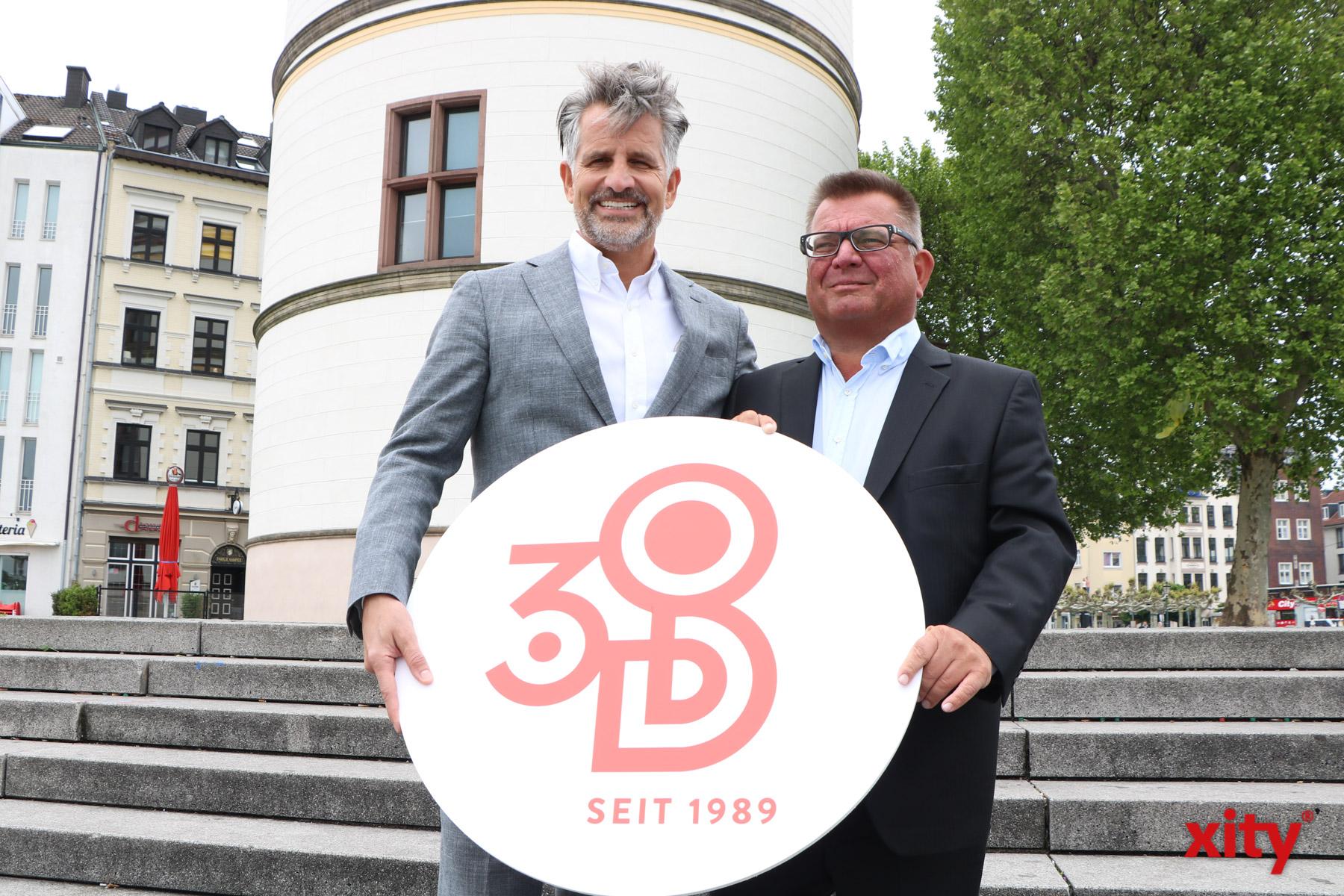 Otto Lindner (l.) und Boris Neisser aus dem Vorstand der Destination Düsseldorf (Foto: xity)