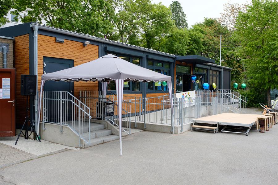 Dank Modulbauweise wurde der neue Pavillon schon nach rund sechs Monaten Bauzeit fertiggestellt (Foto: Stadt Düsseldorf/Uwe Schaffmeister)