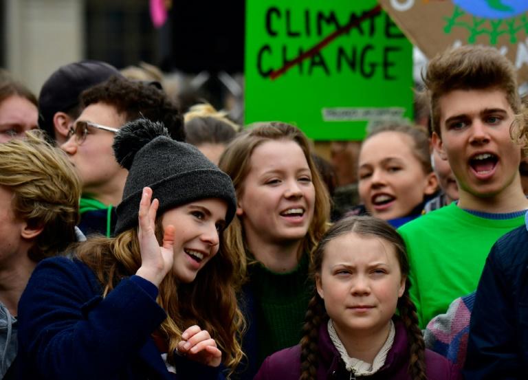 Klima-Aktivistin Neubauer wirft Merkel Blockade von EU-Klimapolitik vor (© 2019 AFP)