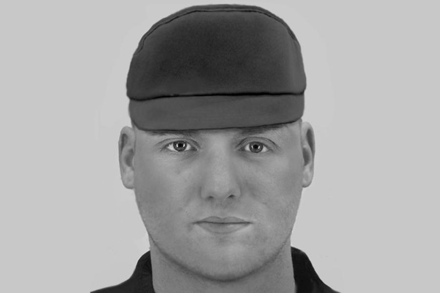 Polizei fahndet mit Phantombild nach unbekanntem Tatverdächtigen (Foto: Polizei Düsseldorf)