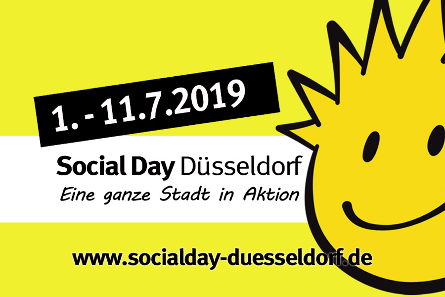 Die Anmeldungen laufen: Startschuss zum 12. Social Day Düsseldorf (Foto: Jugendring Düsseldorf)