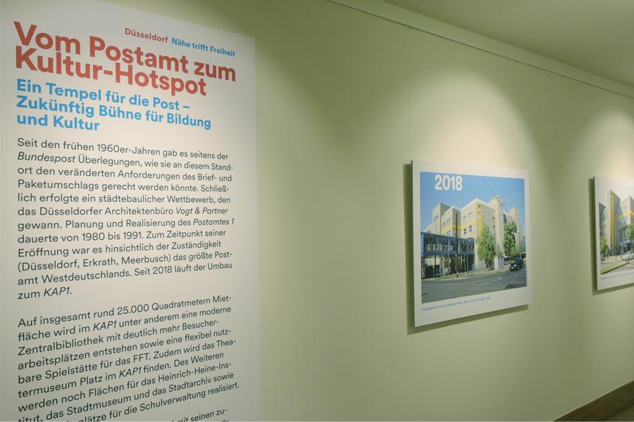 Die Ausstellung im Rathaus beleuchtet mit historischen Bildern die Geschichte des Areals (Foto: Stadt Düsseldorf/Wilfried Meyer)