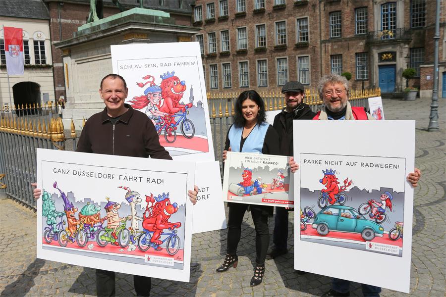 So sieht Jacques Tilly die Fahrradstadt Düsseldorf