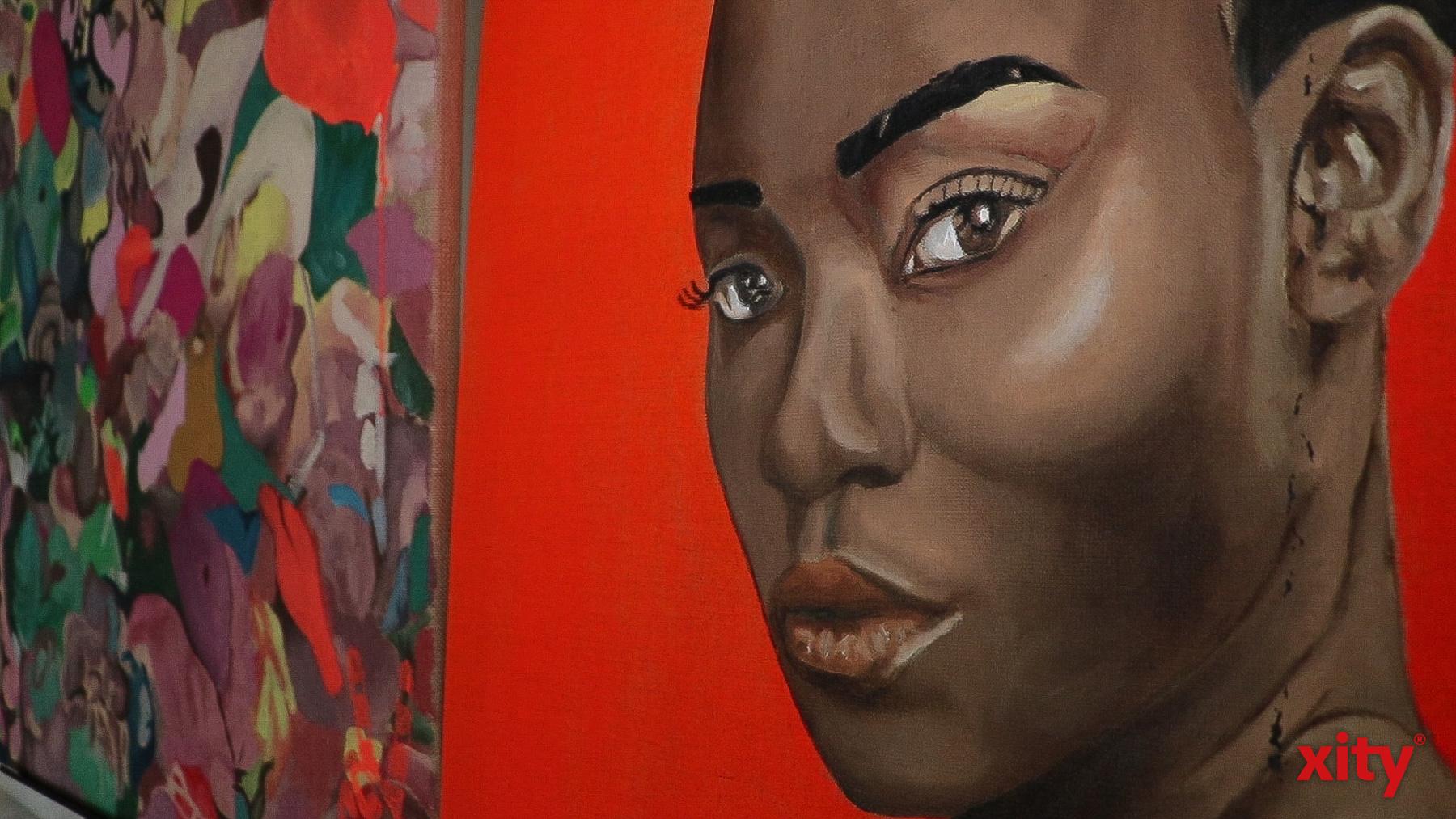 """Auszug""""Exotic Lady"""", Elena Panknin, 80 cm x 60 cm, Öl auf Leinwand  (Foto: xity)"""