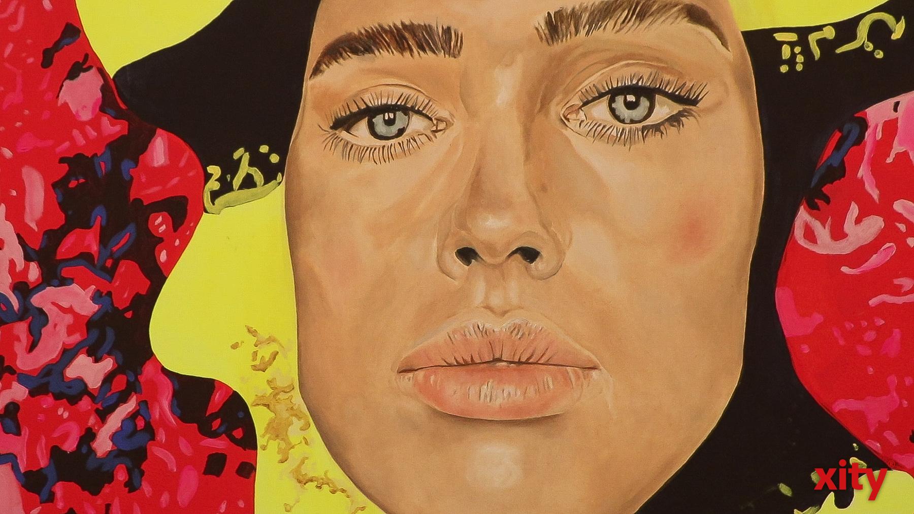 """Auszug aus """"Mickey Molekül"""", Elena Panknin, 180 cm x 140 cm, Öl auf Leinwand (Foto: xity)"""