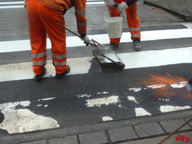 Auf der Karl-Geusen-Straße wird derzeit gearbeitet