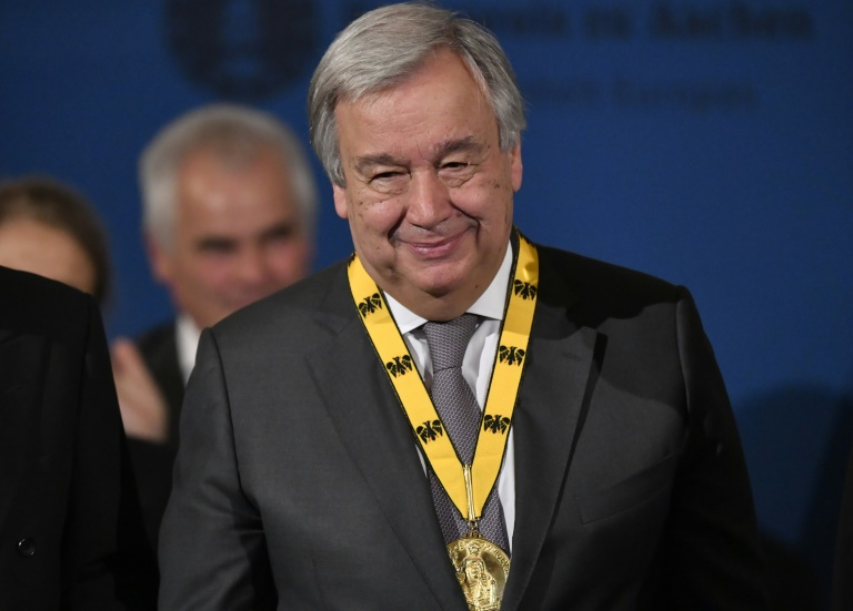 Karlspreisträger Guterres betont Notwendigkeit eines starken Europa (© 2019 AFP)