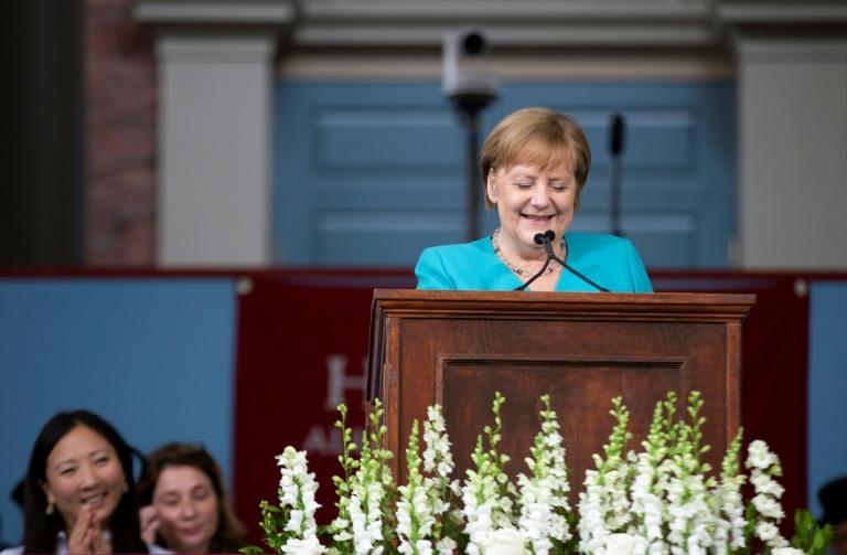 Merkel grenzt sich in US-Rede scharf von Trump ab