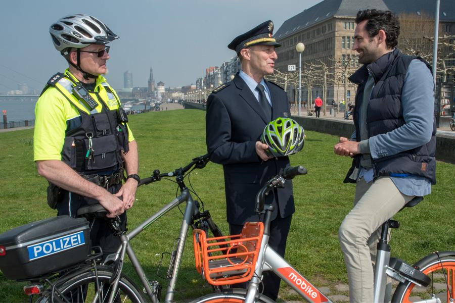 Sicherer Start in die Fahrradsaison 2019: Die Düsseldorfer Polizei informiert (Foto: xity)
