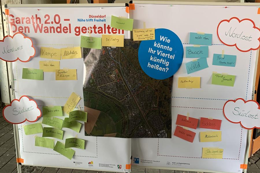 Zahlreiche Anregungen wurden bereits im Stadtteilbüro an der Fritz-Erler-Straße 27 abgegeben (Foto: Stadt Düsseldorf)