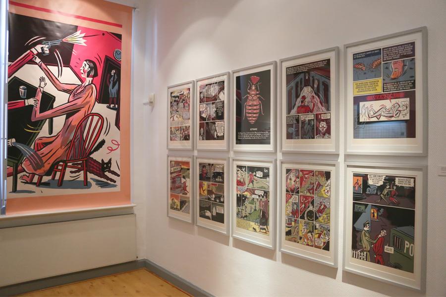 Die neue Sonderausstellung des Heinrich-Heine-Instituts widmet sich dem Thema Graphic Novel (Foto: Stadt Düsseldorf/Ingo Lammert)