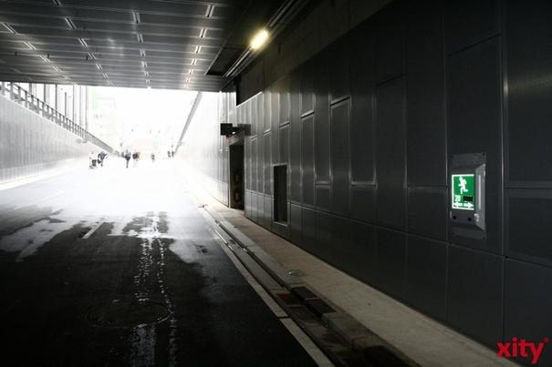 Der Rheinufertunnel bleibt bis Freitag nachts gesperrt (Foto: xity)