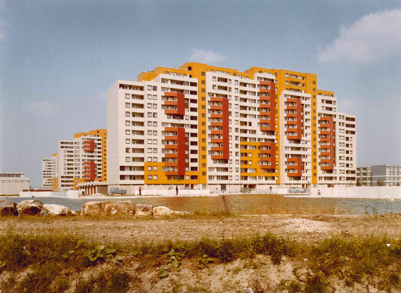 """Papageienhäuser"" in Ratingen-West, 1973 (Foto: Foto-Studio Blascyk, Düsseldorf)"