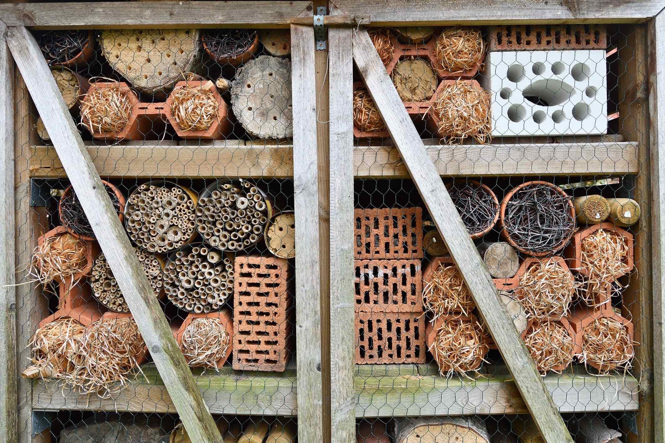 Tag der StadtNatur Insektenhotels (Foto: Lutz Leitmann / Stadt Bochum)
