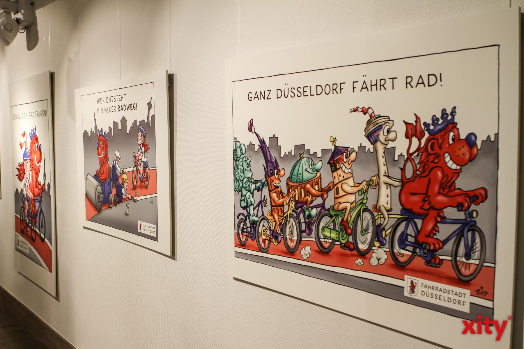 Zu sehen sind ausserdem Werke des Künstlers Jacques Tilly (Foto: xity)