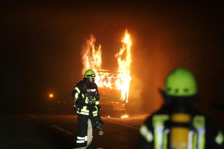 Sieben Verletzte bei Flixbus-Unfall auf Autobahn in Baden-Württemberg (© 2019 AFP)