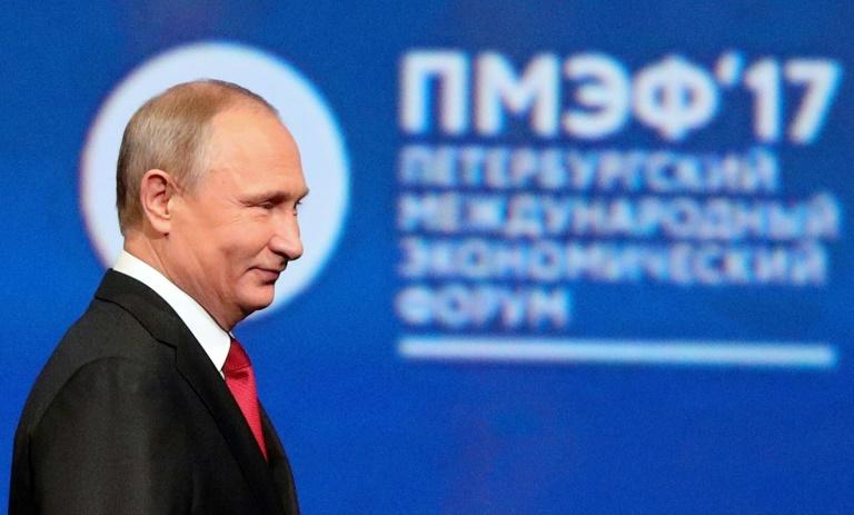 Russland wirbt auf Wirtschaftsforum in St. Petersburg um Investoren (© 2019 AFP)