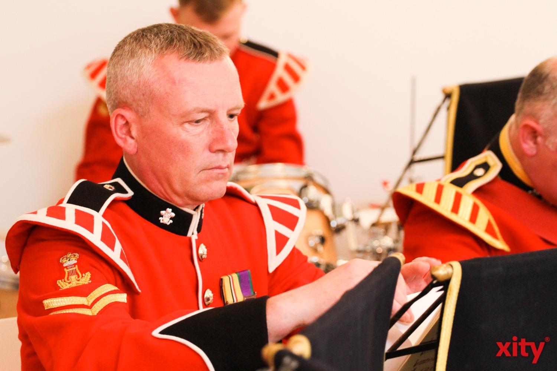 """Für Musik sorgte der britische Militär-Musikkorps """"The Prince of Wales Military Band"""" (Foto: xity)"""