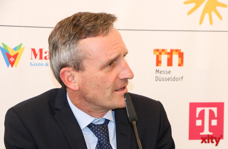 Düsseldorfs Oberbürgermeister Thomas Geisel hatte ins Rathaus ge (Foto: xity)