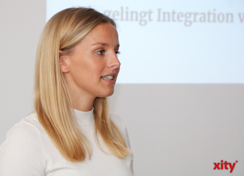 Johanna Brenninkmeyer, DRK-Botschafterin für Migration und Integration, hielt eine Keynote (Foto: xity)