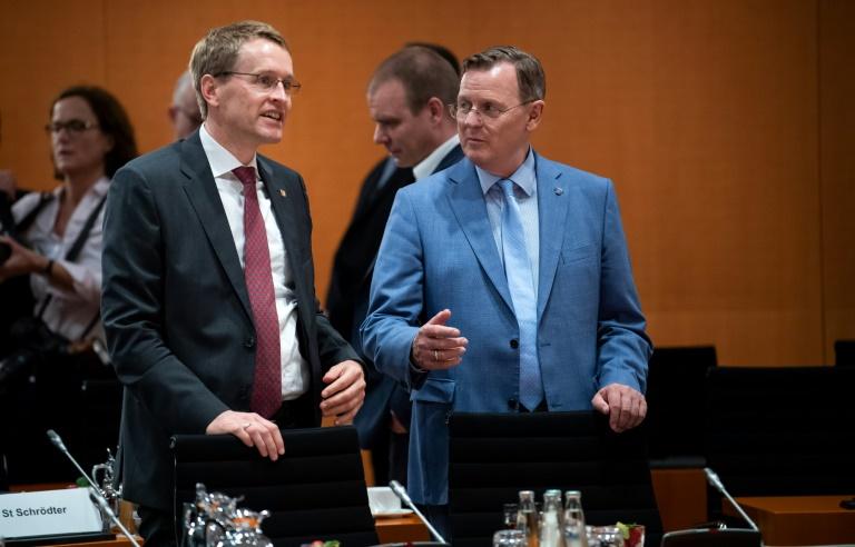 Günther und Ramelow werben für unverkrampften Umgang von CDU und Linken (© 2019 AFP)