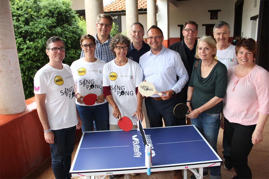 "Das Projekt ""SingPong on Tour"" kommt im Juli nach Xanten (Foto: Borussia Düsseldorf)"