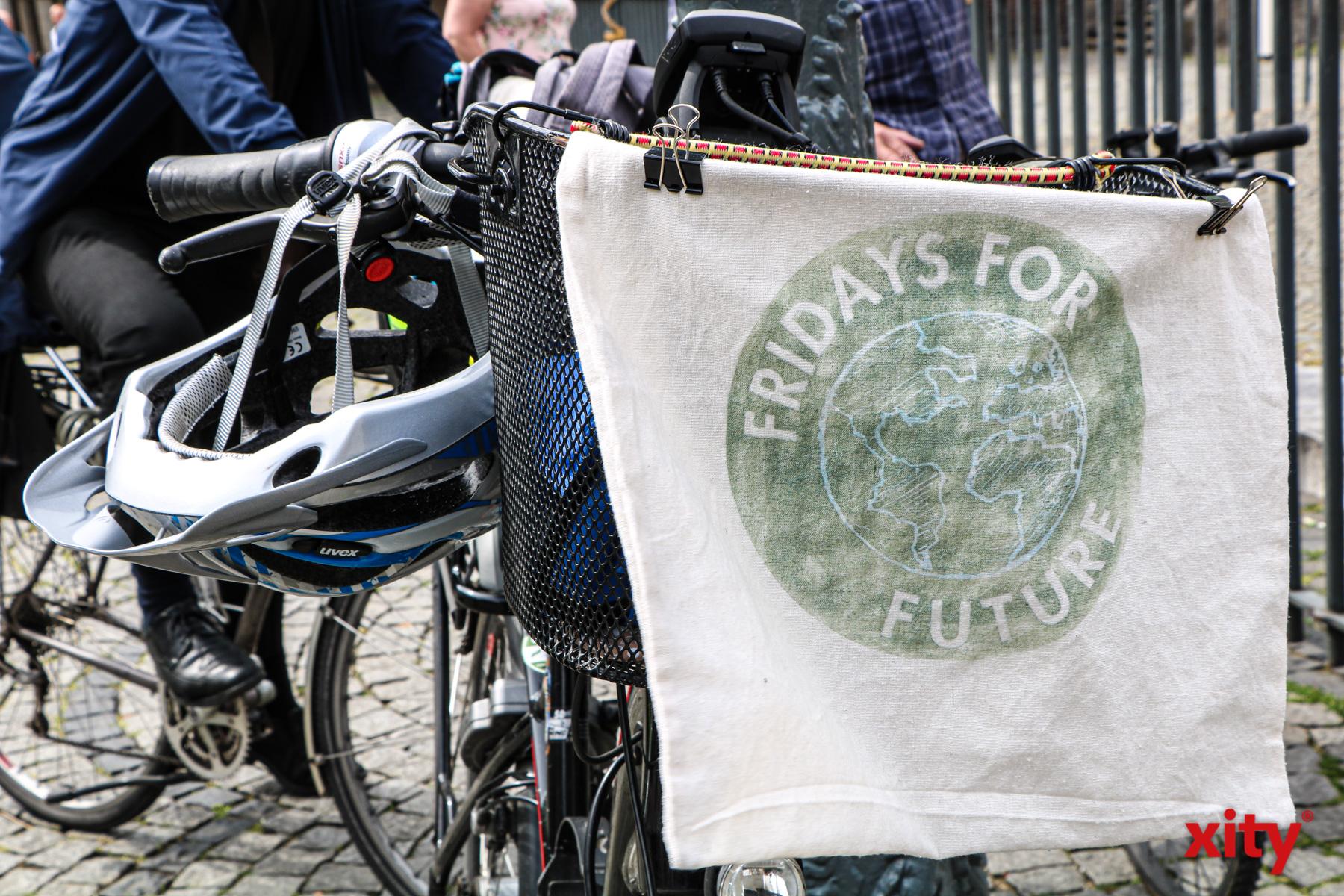 Mit der Aktion wollte die Bewegung das Fahrrad als klimaneutrales Verkehrsmittel pushen (Foto: xity)