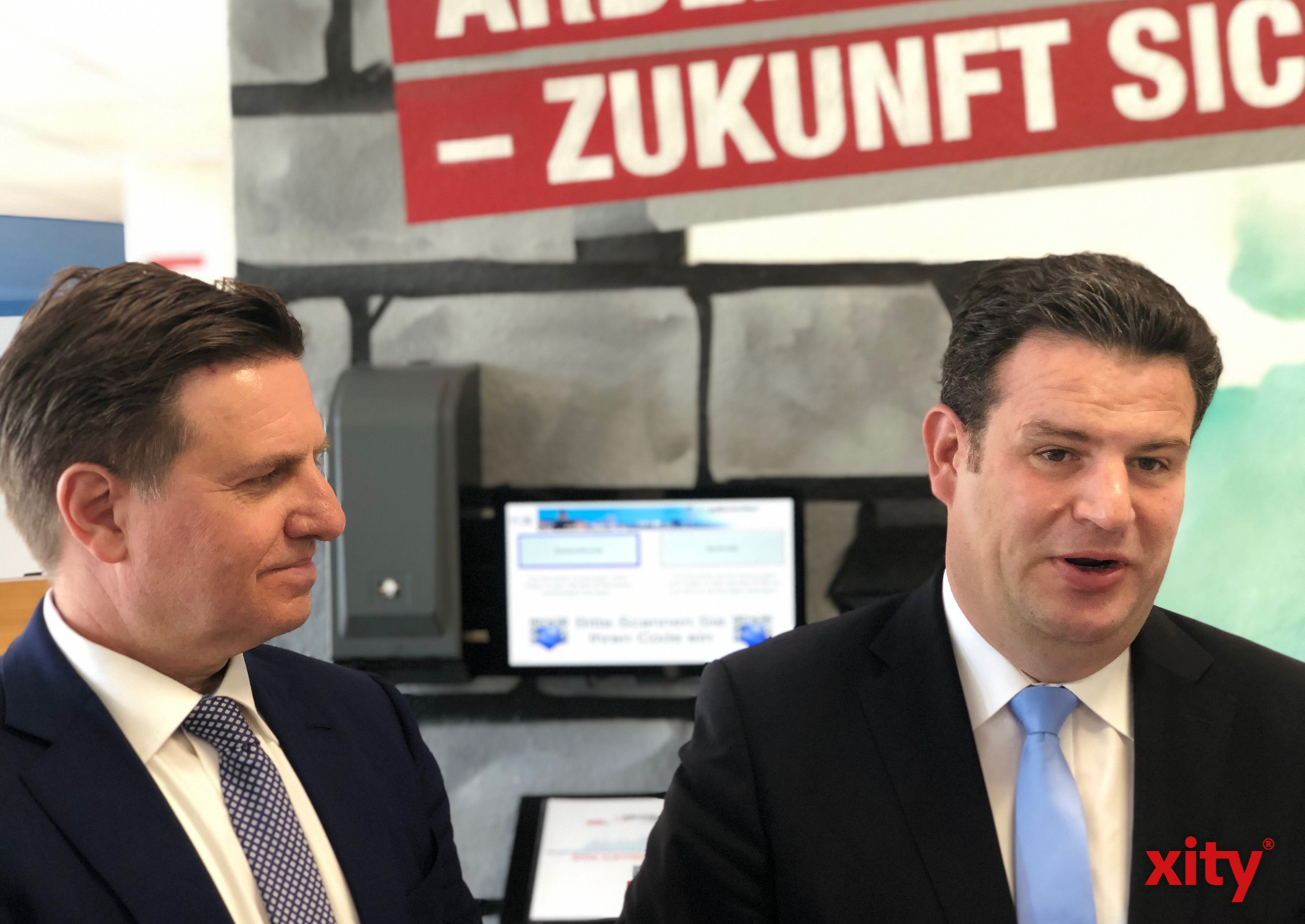 Minister Hubertus Heil lobte die Arbeit des Düsseldorfer Jobcenters (Foto: xity)