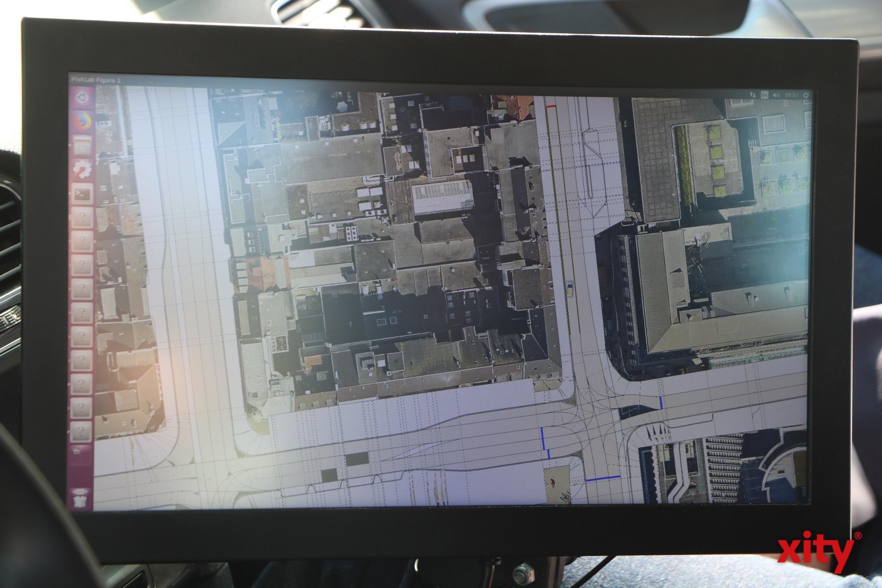 Wichtig bei der automatisierung des Fahrens: Hochgenaue und detailierte Karteninformationen (Foto: xity)