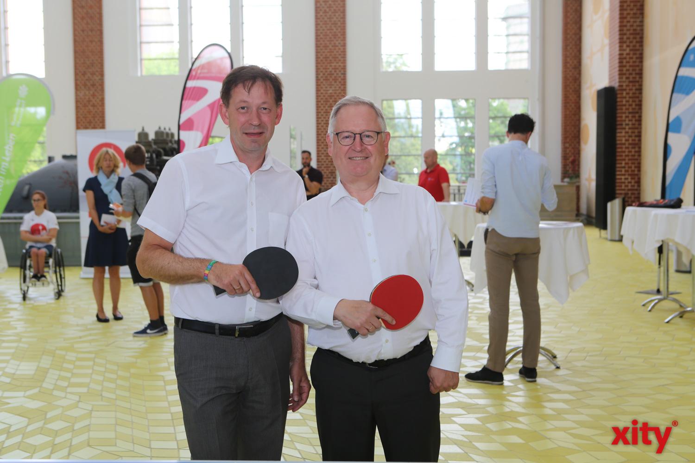 Stadtdirektor Burkhard Hintzsche und Stadtwerke-Vorstand Manfred Abrahams (Foto: xity)