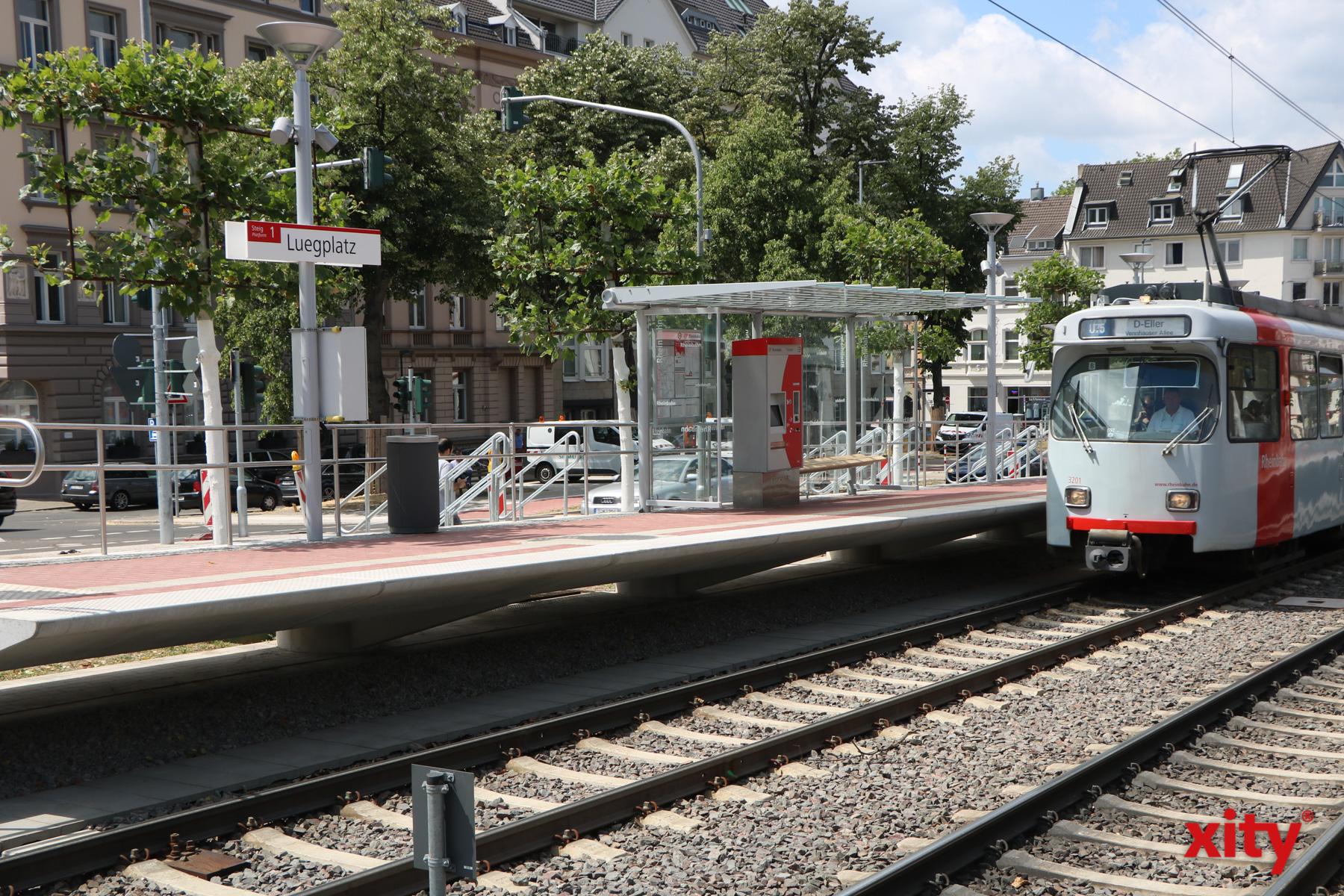 Die neuen Hochbahnsteige sollen das Ein- und Aussteigen am Luegplatz schneller, bequemer und sicherer machen (Foto: xity)