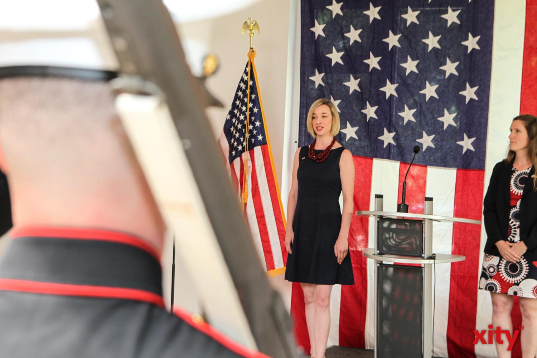 Auf dem Fest wurden die deutsche und die amerikanische Hymne gesungen (Foto: xity)