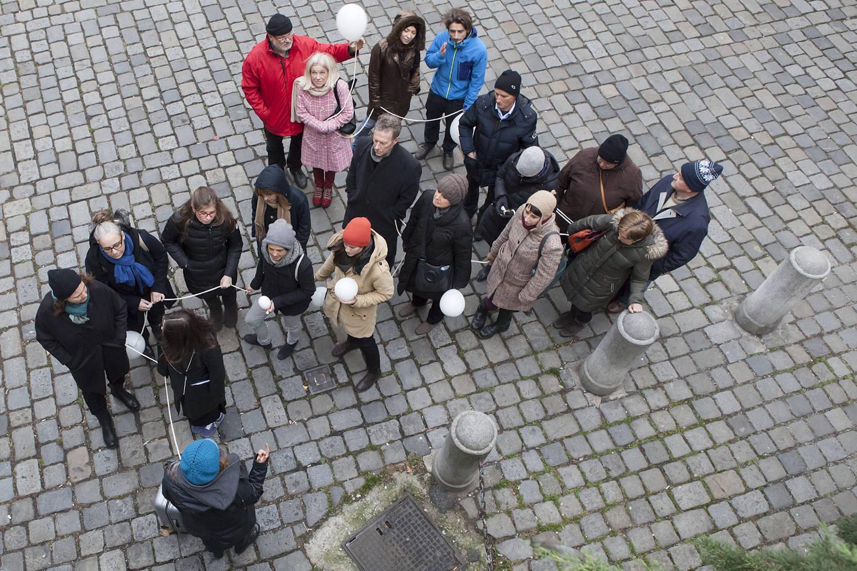 Vergehung, Stadtwanderung Textilviertel Wien, 2015 (Foto: Peter Hoiss)