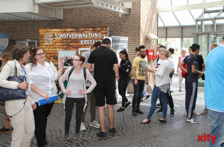 Hunderte Jugendliche kamen zur Check in Berufswelt nach Krefeld (Foto: xity)