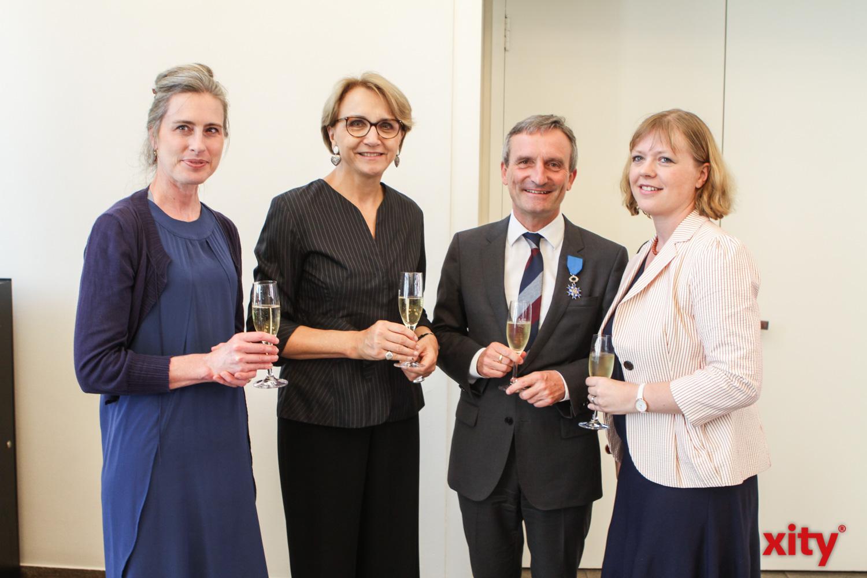 Dr. Vera Geisel, Anne-Marie Descôtes, Thomas Geisel und Generalkonsulin Dr Olivia Berkeley-Christmann (Foto: xity)