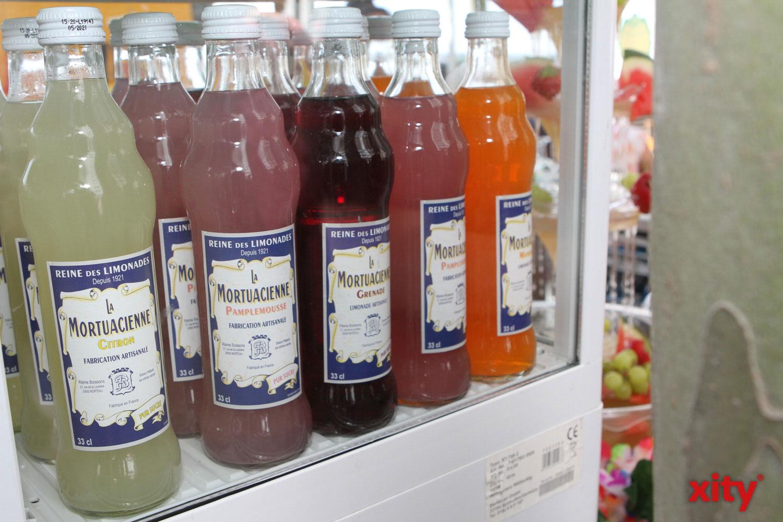 Französiche Limonade in vielen Geschmacksrichtungen konnte probiert werden (Foto: xity)