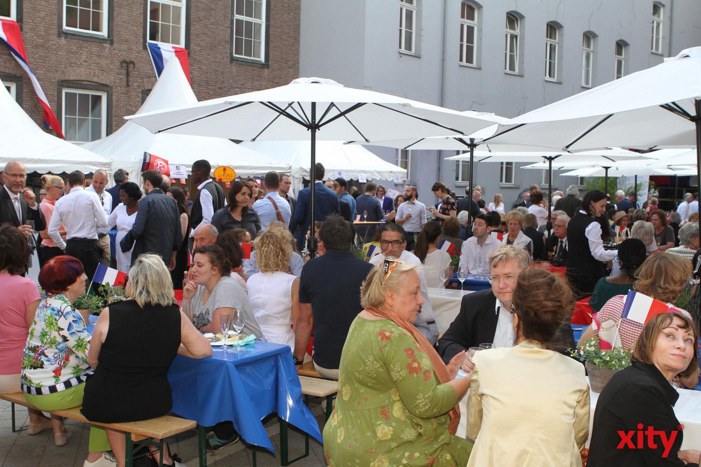 Der Rathausinnenhof wird einmal im Jahr zu Ehren des Frankreichfest geöffnet (Foto: xity)