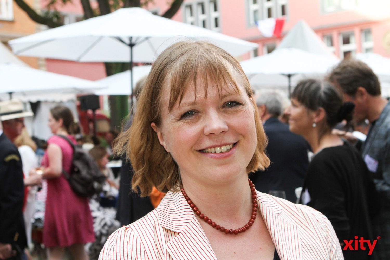 Für Olivia Berkeley.Christmann war dieses Jahr Premiere auf dem Frankreichfest (Foto: xity)