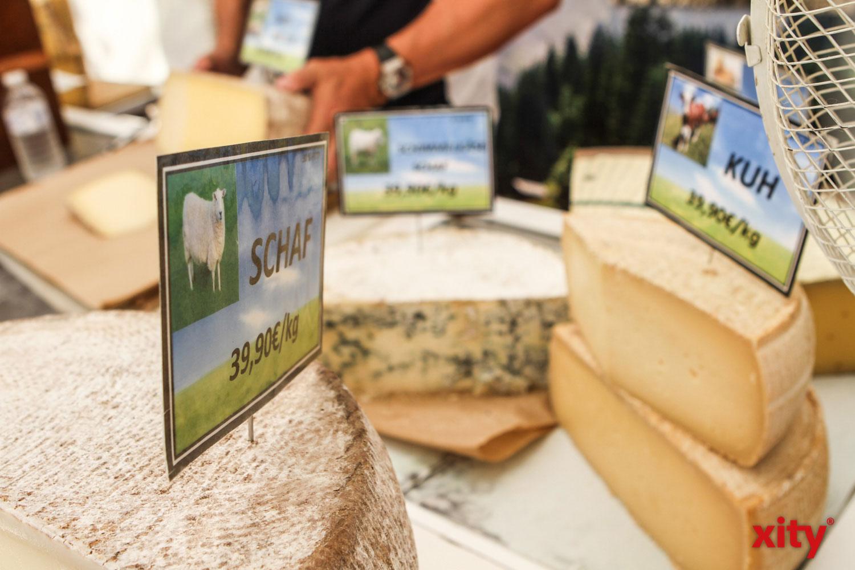 Französischer Käse in vielen Variationen konnte erworben werden (Foto: xity)