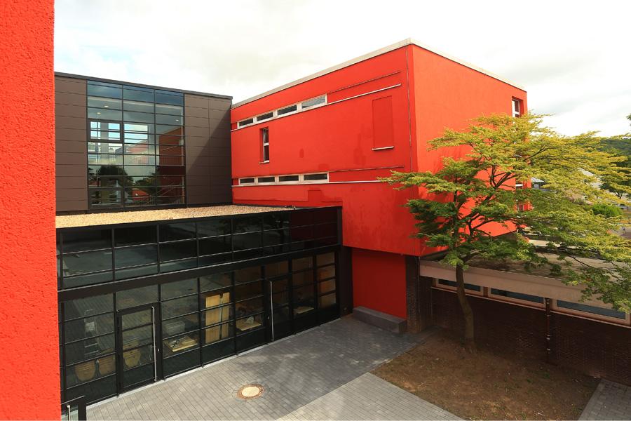 Der neue Erweiterungstrakt des Gymnasiums Gerresheim (Foto: Stadt )