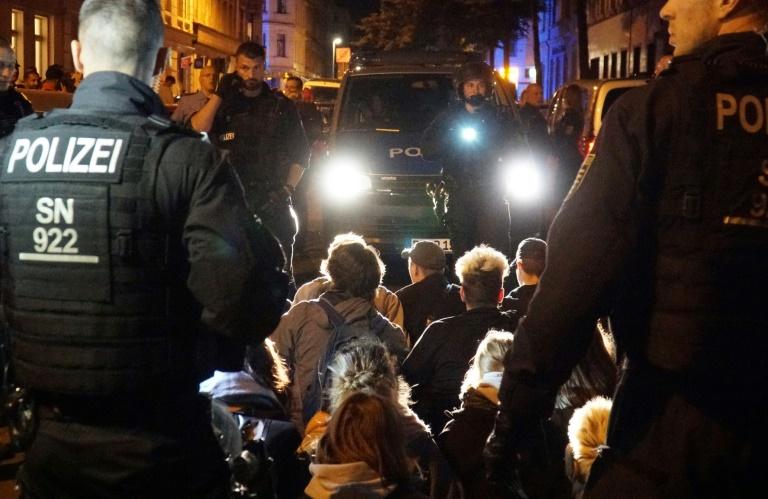 Gewaltsamer Protest gegen geplante Abschiebung in Leipzig (© 2019 AFP)