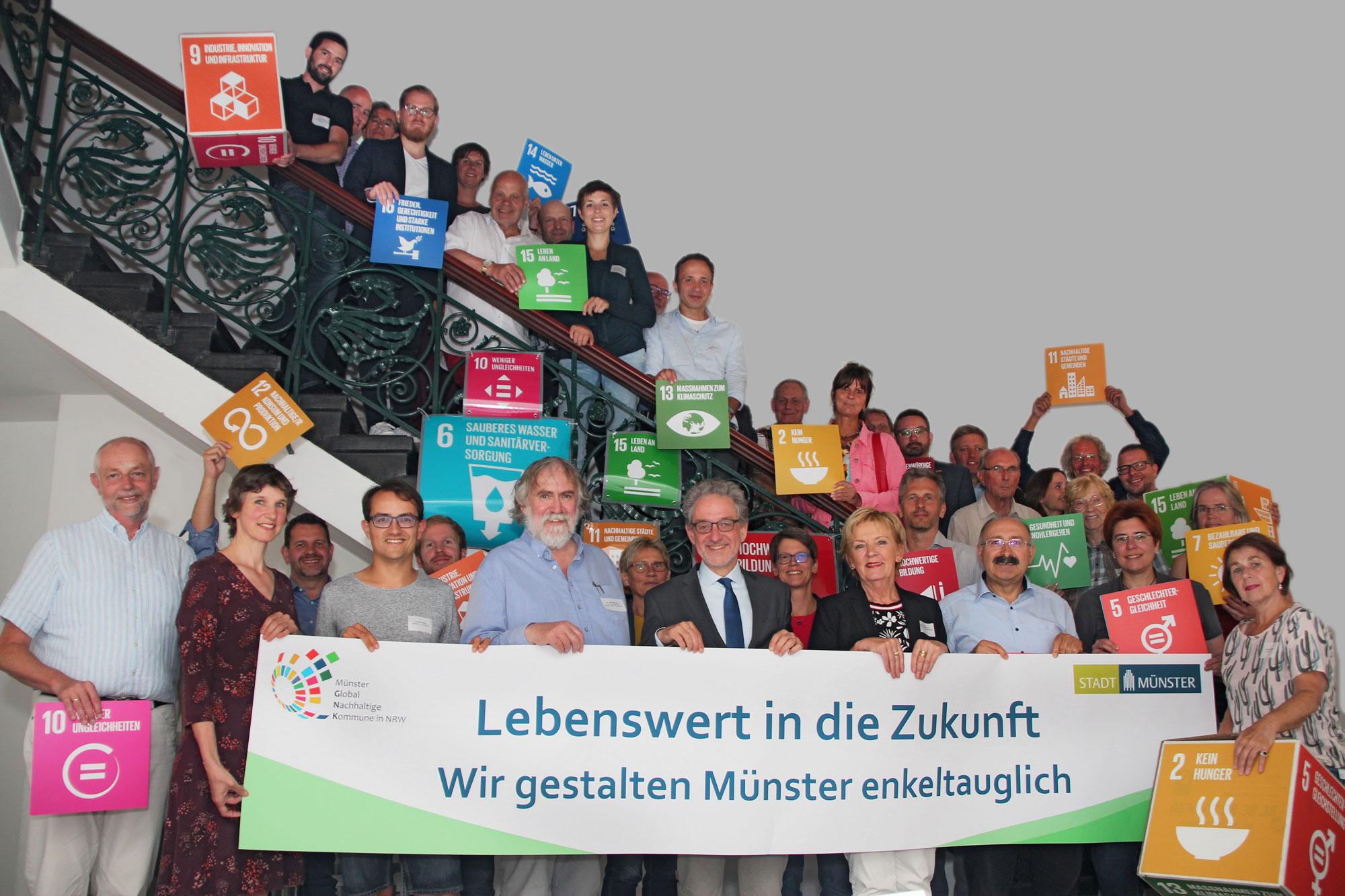"""Der Beirat """"Global Nachhaltige Kommune"""" (Foto: Stadt Münster)"""