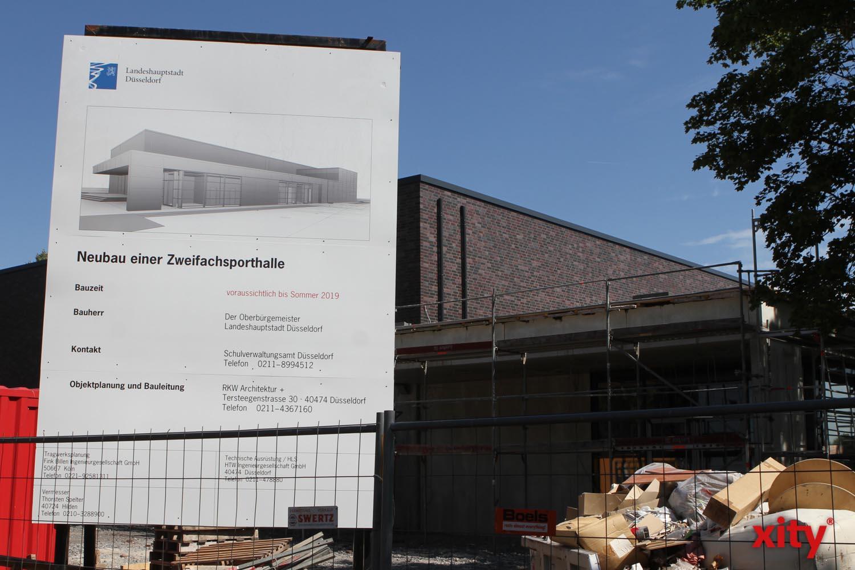 An der Franz-Vaahsen-Schule wird eine neue Zweifachsporthalle gebaut (Foto: xity)
