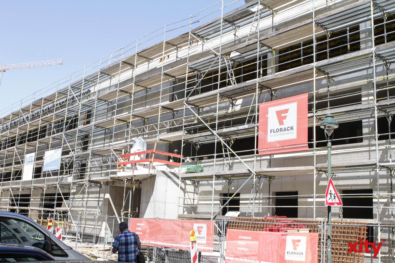 An der Kirchfeldstraße entsteht zurzeit der Neubau der Regenbogenschule (Foto: xity)