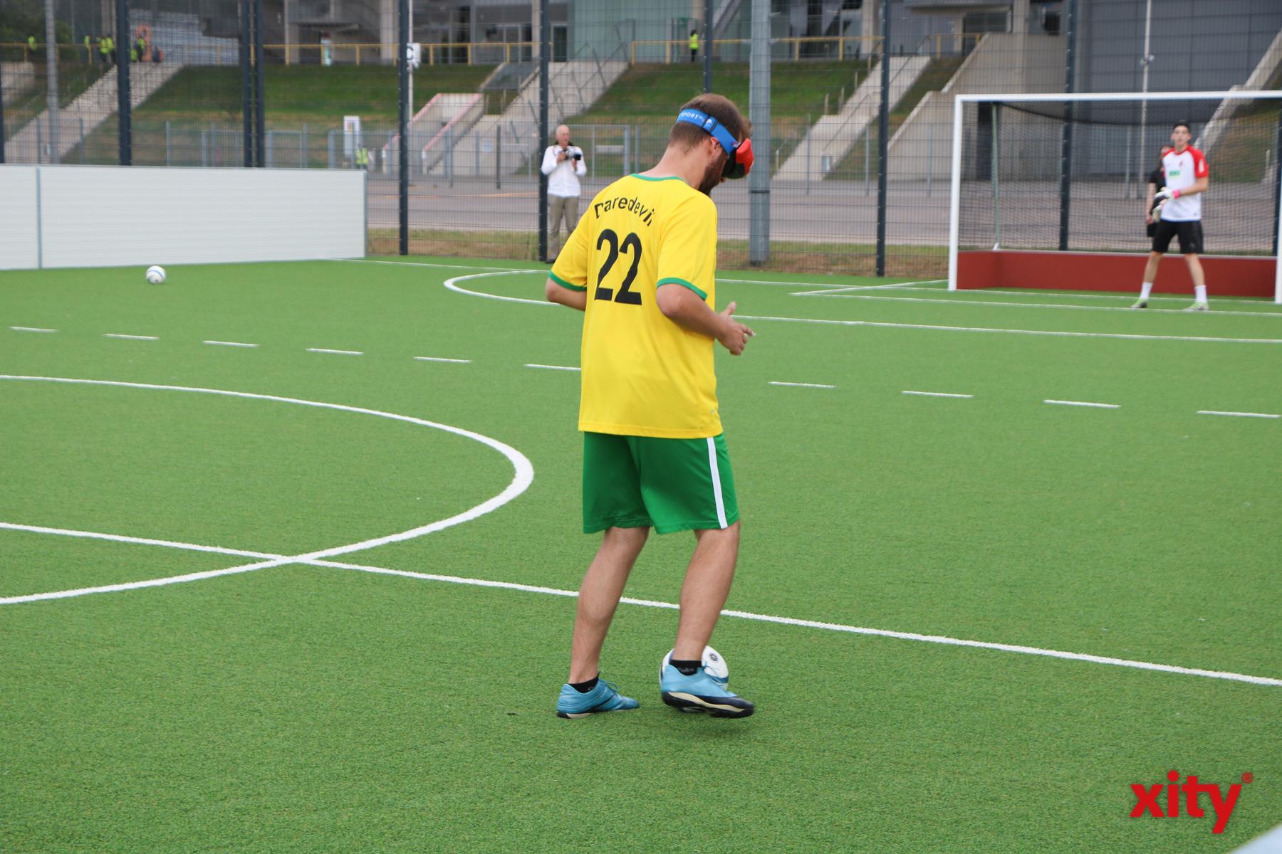 Das neue Spielfeld gibt den blinden Sportlern eine Anlaufstelle, um ihren Sport in Düsseldorf auszuüben (Foto: xity)